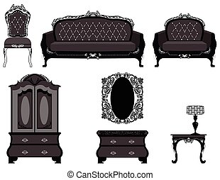 Classic royal ornamented furniture