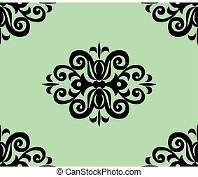 Classic ornament pattern. Vector illustration