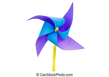 paper windmills isolate on white background with...