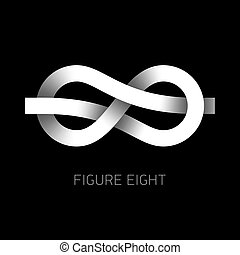 Figure eight knot symbol