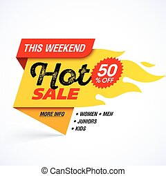 Hot Sale banner - Hot Sale, this weekend special offer...