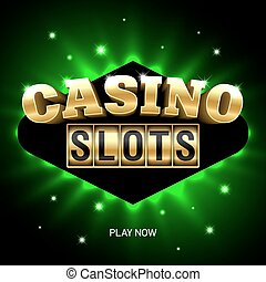 Casino slots bright banner - Casino banner illustration