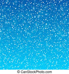 Falling snow winter background - Horizontally seamless...