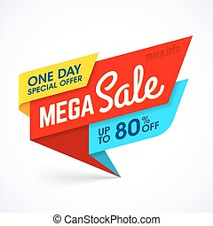 One Day Mega Sale banner - Vector banner