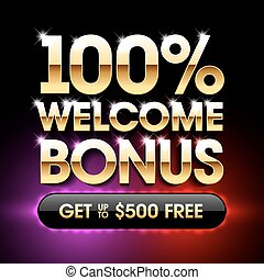 100% Welcome Bonus casino banner - Welcome Bonus banner...