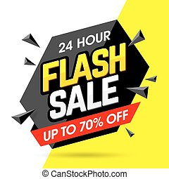 Flash Sale banner - 24 Hour Flash Sale banner illustration