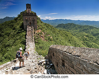 The Great Wall of China between Jinshanling and Simatai