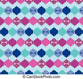 Abstract pattern with ornaments