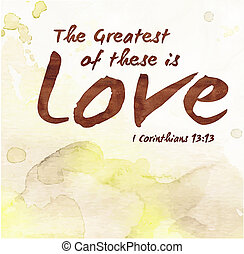 The Greatest of these is Love Verse Scripture Design Art on...