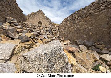 Ruins of the ancient village of San Antonio de Lipez in...