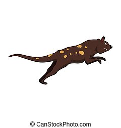 a spotted weasel jumping illustration