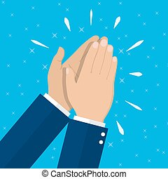 Human hands clapping. applauding hands. vector illustration...