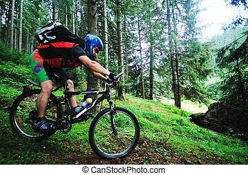mount bike man outdoor - healthy lifestyle and fitness...