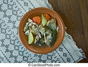 pescado blanco, sopa, pez