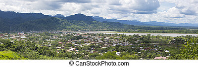 Aerial view of Rurrenabaque, Bolivia