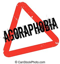 Agoraphobia rubber stamp. Grunge design with dust scratches....