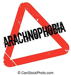 Arachnophobia rubber stamp. Grunge design with dust...