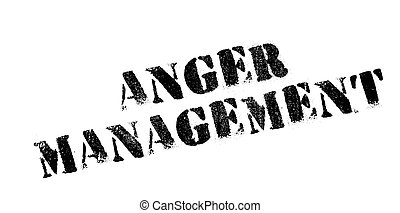 Anger Management rubber stamp. Grunge design with dust...