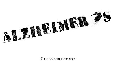 Alzheimer rubber stamp. Grunge design with dust scratches....