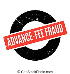 Advance-Fee Fraud rubber stamp. Grunge design with dust...
