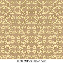 Vintage Damask floral classic pattern - Vector Vintage...