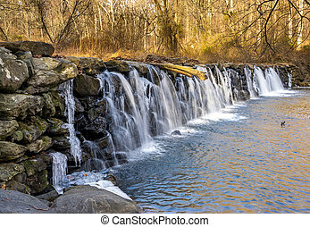 Sycamore Mills Dam - The Sycamore Mills Dam located in...