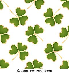 Seamless green shamrocks
