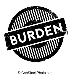Burden rubber stamp. Grunge design with dust scratches....