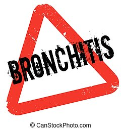 Bronchitis rubber stamp. Grunge design with dust scratches....