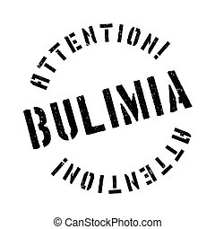 Bulimia rubber stamp. Grunge design with dust scratches....