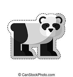 cute bear panda character icon