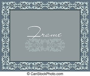 Vintage Abstract floral classic frame