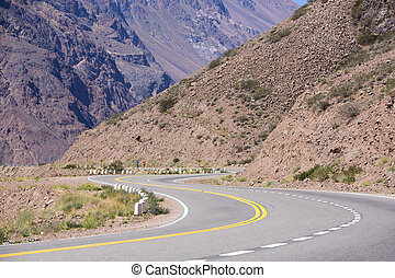 Famous road Ruta 7 and the Andean mountains - Turn on the...