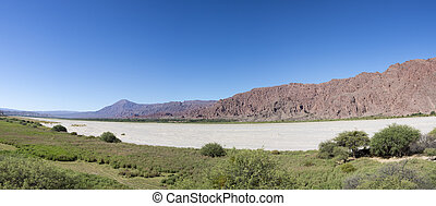 Andean mountain and blue sky Cachi, Ruta 40, Salta,...