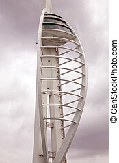 Spinnaker Tower in Portsmouth in Sepia Black and White