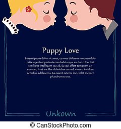 It is a template image of puppy love kiss.