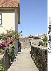 Way in Combarro, a village of the province of Pontevedra in...