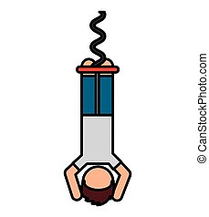 bungee jumping extreme sport vector illustration design