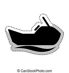 jet ski extreme sport vector illustration design