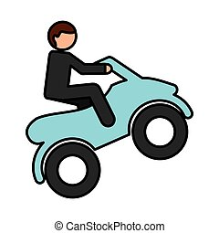quad motorcycle extreme sport vector illustration design