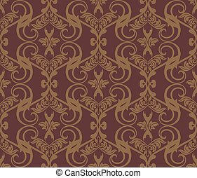 Abstract floral classic pattern