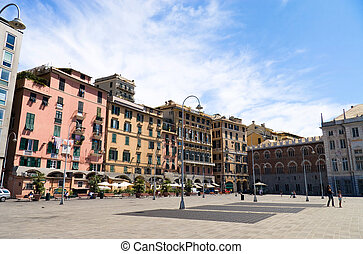 Genoa Italy. General city view. Wide angle.
