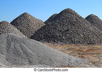 Mounds of Gravel - Mounds of recently ground gravel
