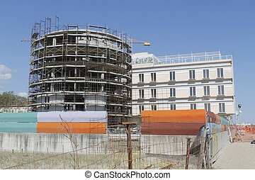 architecture - modern architecture in construction on the...