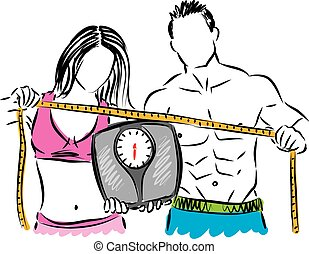 couple weight control illustration