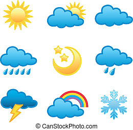 weather icons - Weather forecast icon in vector format