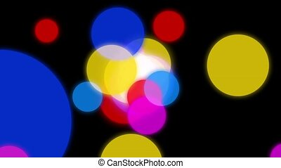 Circles background animation. Colorful circles slowly...
