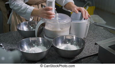 The process of forming a cook pastry dough made from flour,...