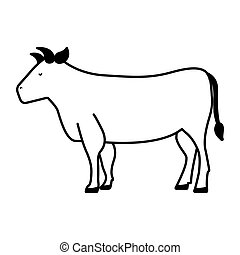 cow meat butchery icon vector illustration design