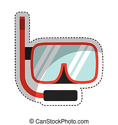 snorkel device isolated icon vector illustration design